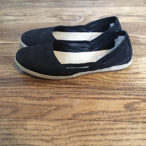 ddce88afdc8 UGG Cicily Strappy Black Slip On Flats Ladies 8.5